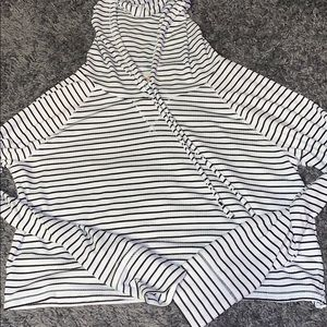 American Eagle Striped Cropped Hoodie